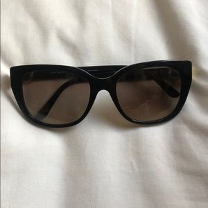 Tory Burch sunglasses. Black and gold.